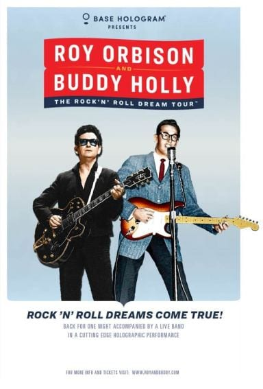 Rock n' roll dream tour, buddy holly, roy orbison, buddy holly roy orbison