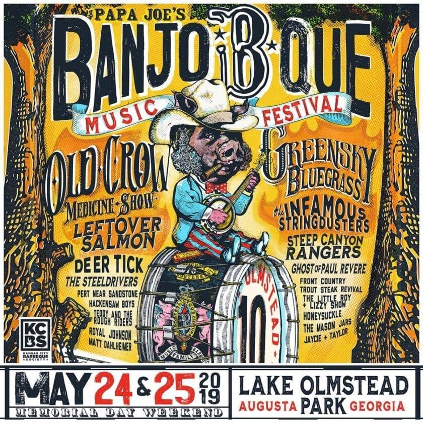 Papa Joe's Banjo-B-Que Music Festival 2019 Lineup Poster