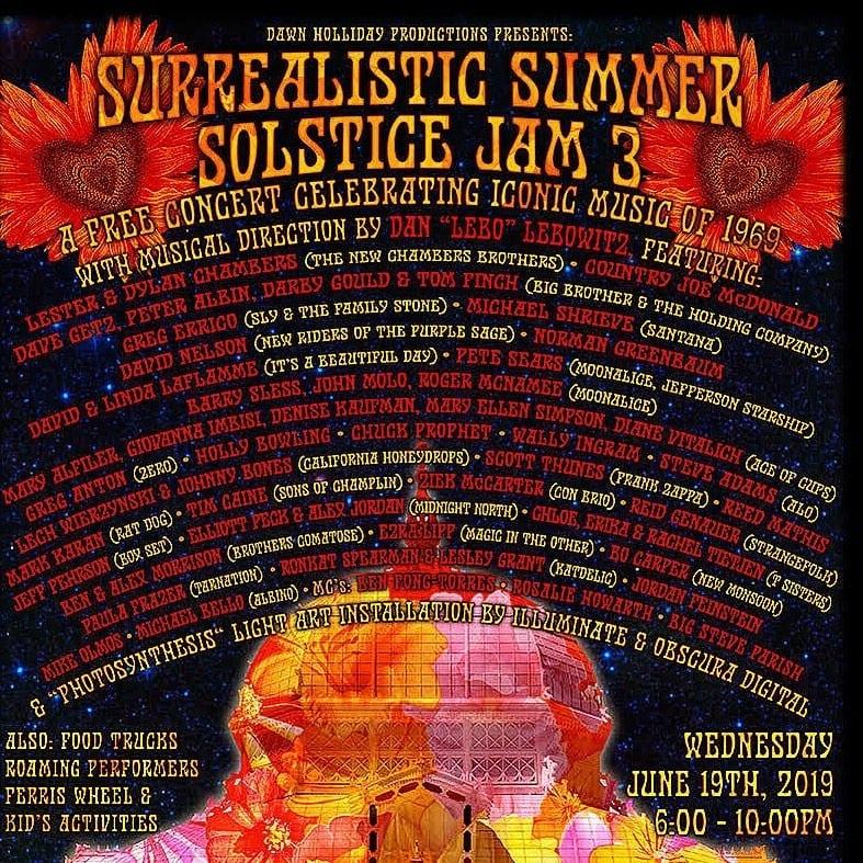 Surrealistic Summer Solstice 3 lineup