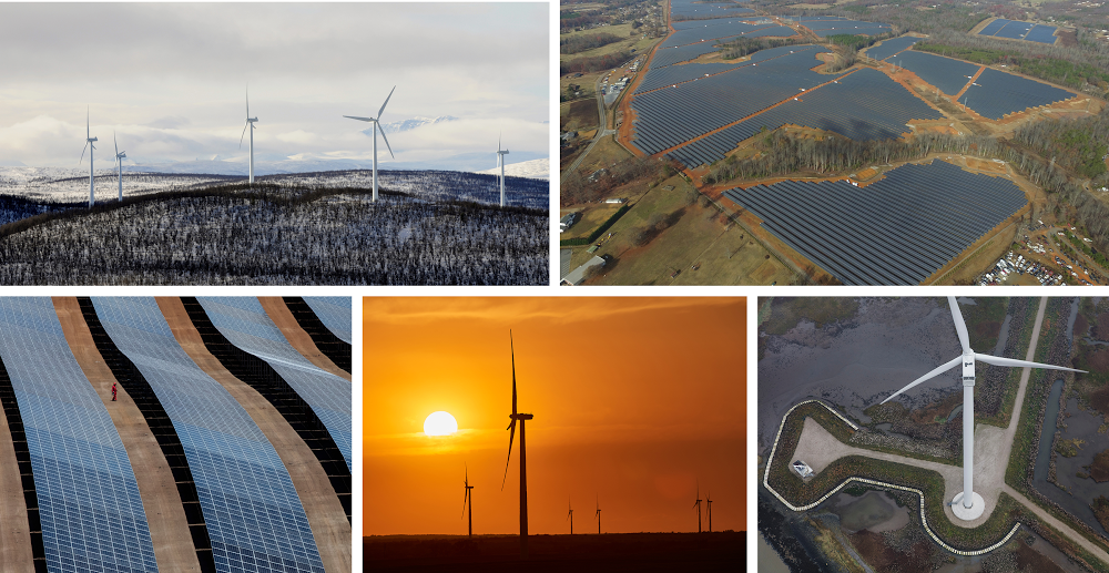 Current wind and solar projects