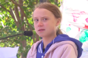 Greta Thunberg shuts down heckler at climate rally