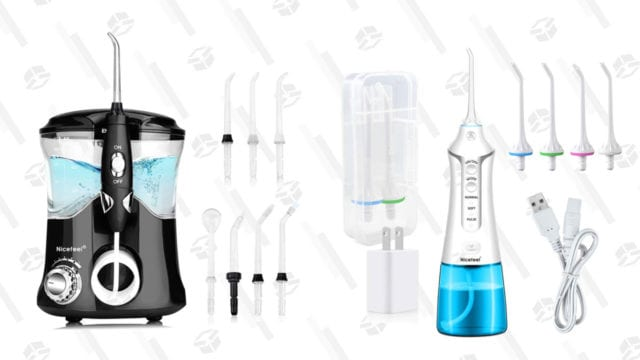 Get All Of That Gunk Out Of Your Teeth When You Shop Today's Water Flosser Sale