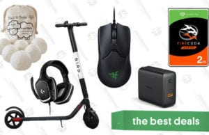 Dryer Balls, Logitech Gaming Headset, Bird Electric Scooter, and More